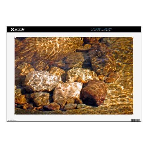 Corriente chispeante Sunlit ambarina Calcomanías Para 43,2cm Portátiles