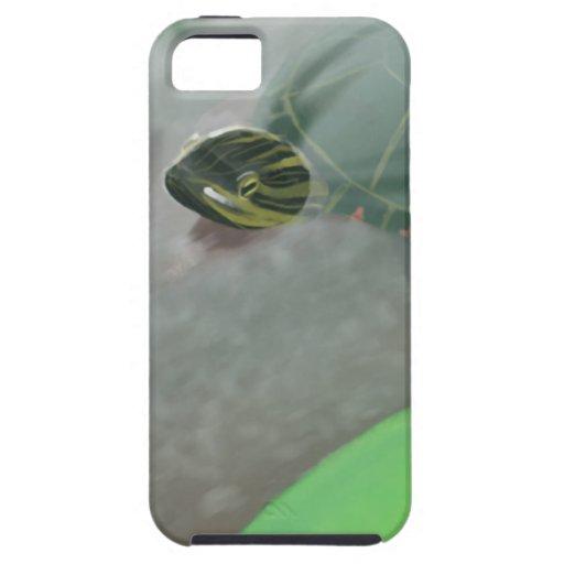 Corriente con las tortugas y los pescados funda para iPhone SE/5/5s