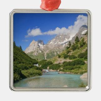 Corriente de Dora, valle de Veny Adorno Cuadrado Plateado