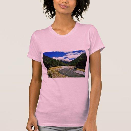 Corriente de la montaña, parque nacional de aspira camisetas