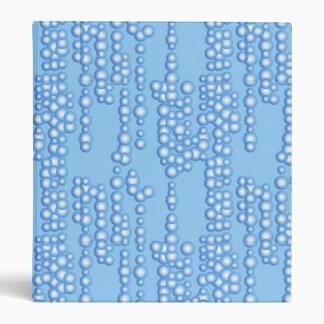 Corriente de las burbujas sombras de azul claro