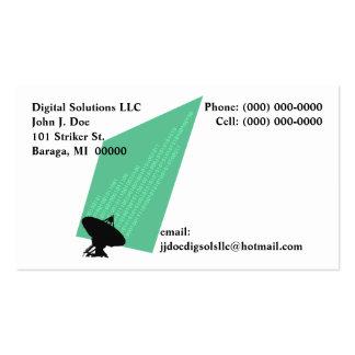 Corriente de los pedazos y de los octetos de los d tarjeta de negocio