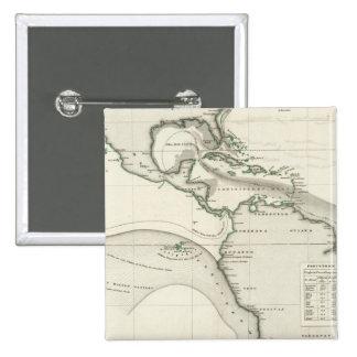 Corriente de Océano Atlántico Pin Cuadrada 5 Cm