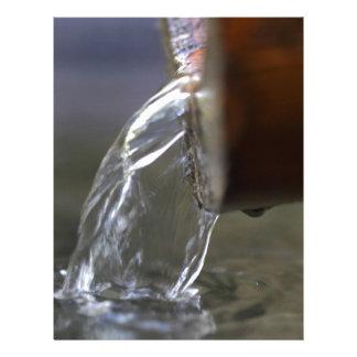 Corriente del agua en un pozo membretes personalizados