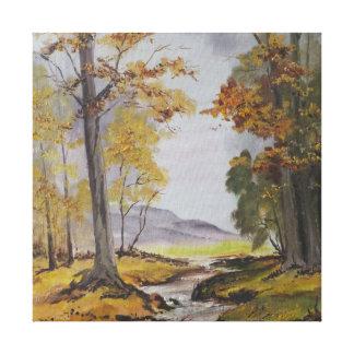 Corriente del bosque de la pintura de Ana Hayes de Impresion De Lienzo