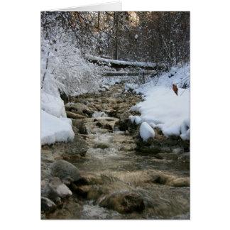 Corriente del invierno tarjeta de felicitación