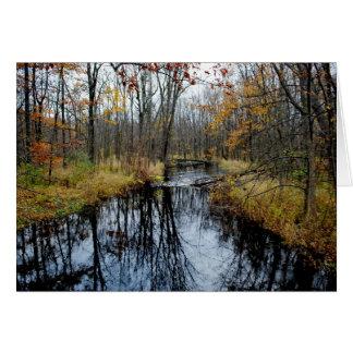 Corriente del otoño tarjetas