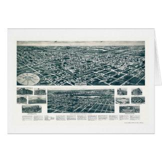 Corriente del valle, mapa panorámico de NY - 1924 Tarjeta De Felicitación