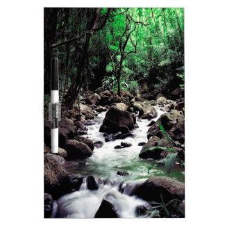 Corriente Hawaii del agua Pizarras Blancas