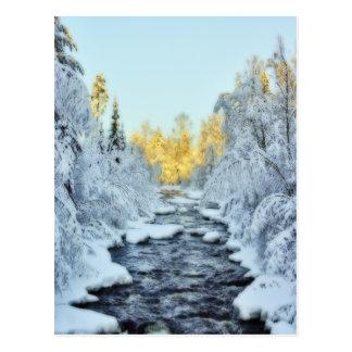 Corriente hivernal tarjeta postal