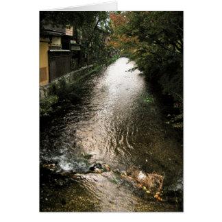 Corriente oscura a través del distrito de Gion Tarjeta Pequeña