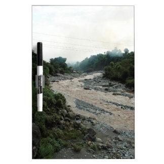 Corriente y humo fangosos en Himalaya después de l Tableros Blancos