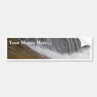 Corrientes del agua de ríos pegatina de parachoque