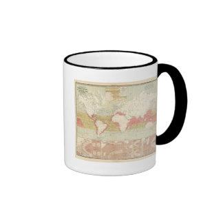 Corrientes del aire tazas de café