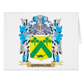 Corrigan Coat of Arms - Family Crest Greeting Card
