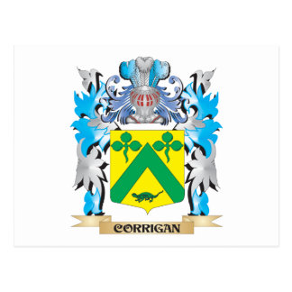 Corrigan Coat of Arms - Family Crest Postcard