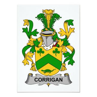 Corrigan Family Crest Personalized Invitation