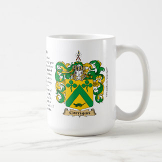 Corrigan, the Origin, the Meaning and the Crest Classic White Coffee Mug