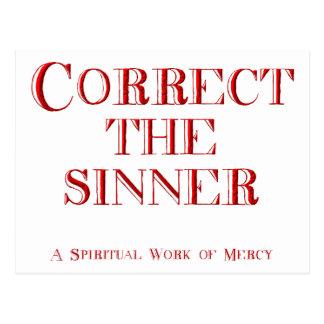 Corrija al pecador postal