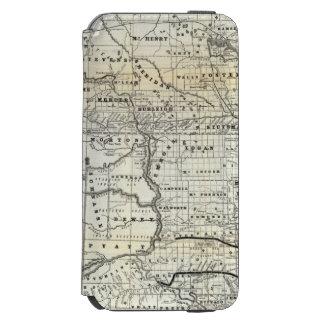 Corrija el mapa de Dakota Funda Billetera Para iPhone 6 Watson