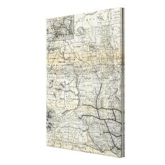 Corrija el mapa de Dakota Impresión En Lona Estirada