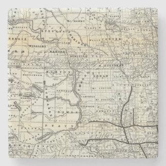 Corrija el mapa de Dakota Posavasos De Piedra