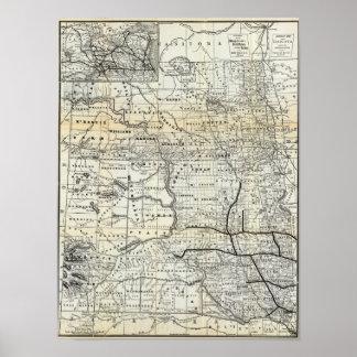 Corrija el mapa de Dakota Póster