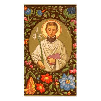 Corrimiento completo del St. Aloysius Gonzaga Tarjetas De Visita