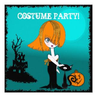 Corrina Halloween Costume Party Invitation