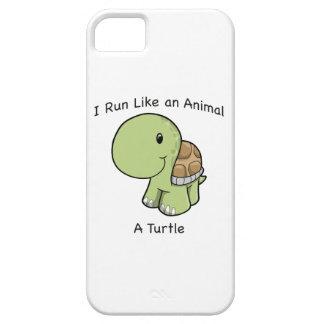 Corro como un animal - una tortuga iPhone 5 Case-Mate cobertura