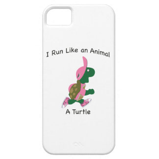 Corro como un animal, una tortuga funda para iPhone SE/5/5s