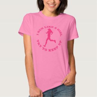 Corro como un chica, intento para continuar camisas