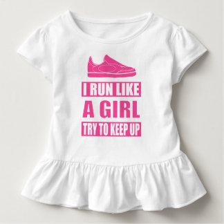 Corro como un chica playera de bebé