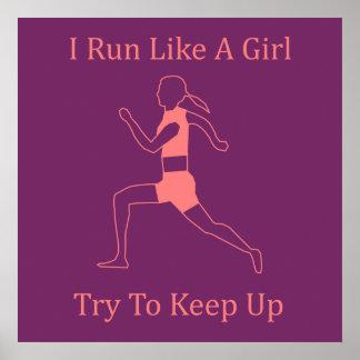 corro como un chica póster