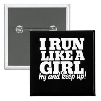 Corro como un intento del chica para continuar pin cuadrado