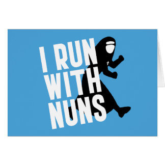 Corro con las monjas felicitaciones