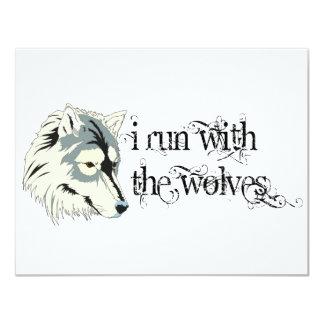 """Corro con los lobos -- Vampiros Invitación 4.25"""" X 5.5"""""""