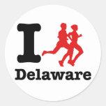 Corro Delaware Pegatina Redonda