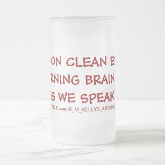 Corro en energía limpia que soy neuronas ardient taza de café