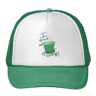 Corro en energía verde gorras de camionero