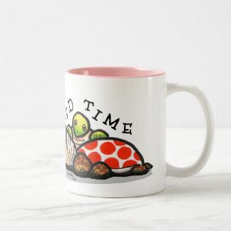 Corro en la taza de las tortugas del tiempo de la