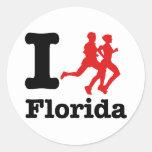 Corro la Florida Etiquetas Redondas