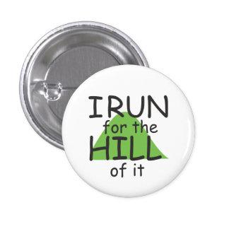 Corro para la colina de ella el © - corredor pin redondo de 1 pulgada