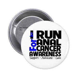 Corro para la conciencia anal del cáncer pin redondo de 2 pulgadas