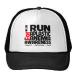Corro para la conciencia de la anemia aplástica gorra
