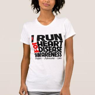 Corro para la conciencia de la enfermedad cardíaca camiseta