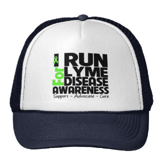 Corro para la conciencia de la enfermedad de Lyme Gorra