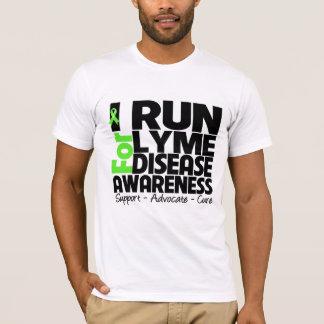 Corro para la conciencia de la enfermedad de Lyme Playera