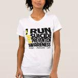 Corro para la conciencia de la prevención del camiseta