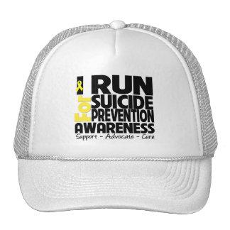 Corro para la conciencia de la prevención del suic gorros bordados